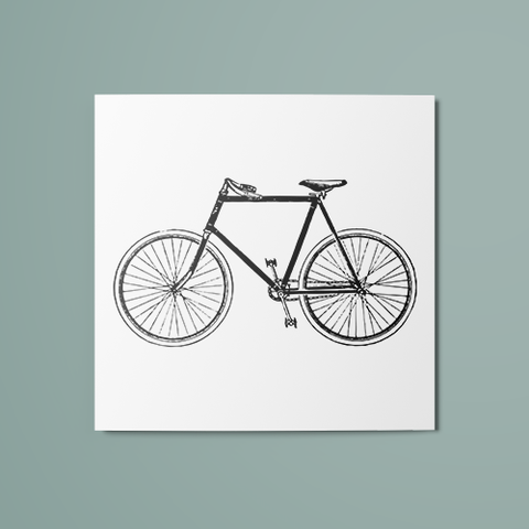B&W Bicycle Temporary Tattoo