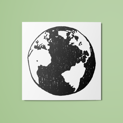B&W Globe Temporary Tattoo
