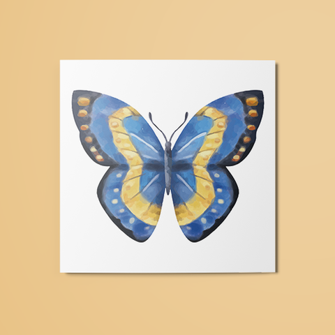 Blue & Yellow Butterfly Temporary Tattoo