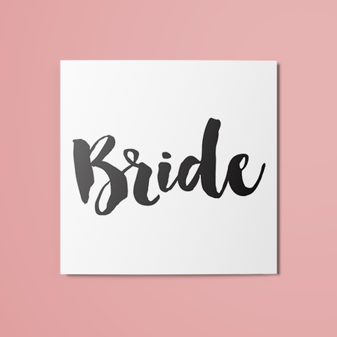 Bride Temporary Tattoo