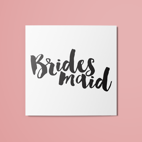 Bridesmaid Temporary Tattoo