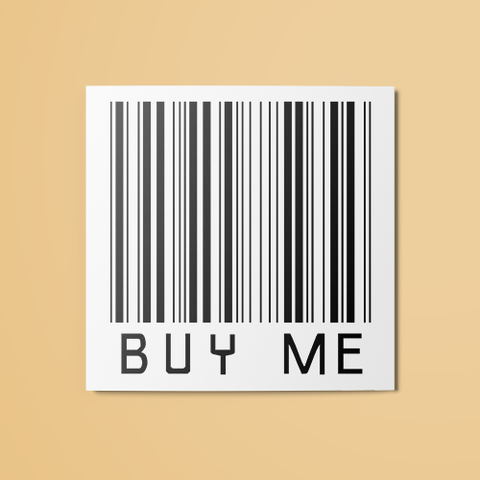 Buy Me Barcode Temporary Tattoo