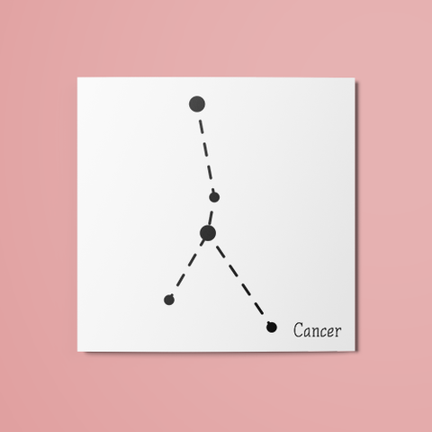 Cancer Constellation Temporary Tattoo