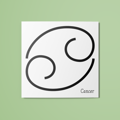 Cancer Symbol Temporary Tattoo