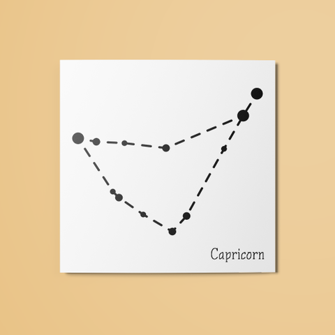 Capricorn Constellation Temporary Tattoo