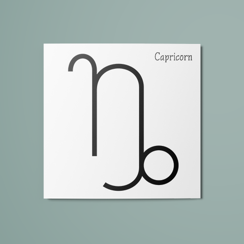 Capricorn Symbol Temporary Tattoo