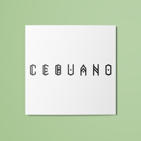 Cebuano Temporary Tattoo