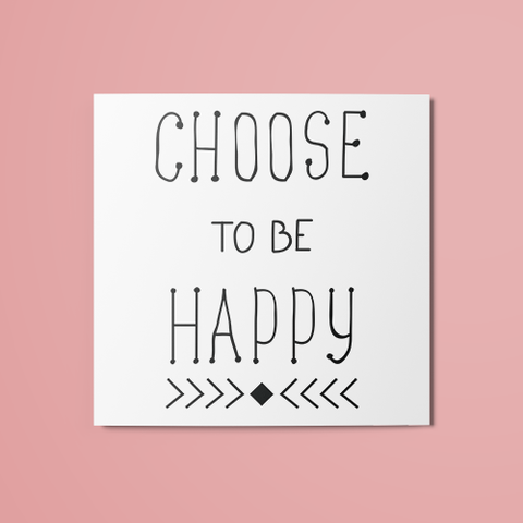 Choose to be Happy Temporary Tattoo