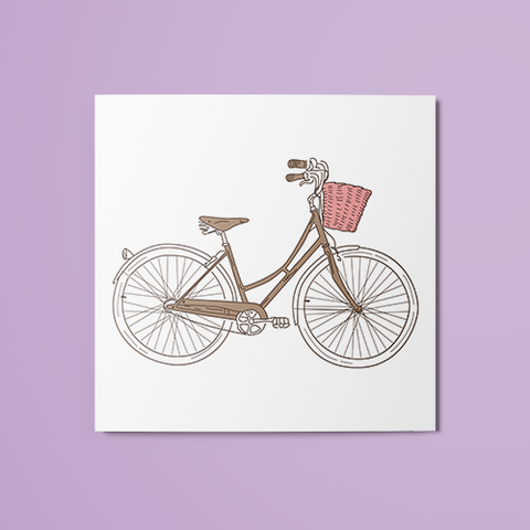 Colored Bicycle Temporary Tattoo