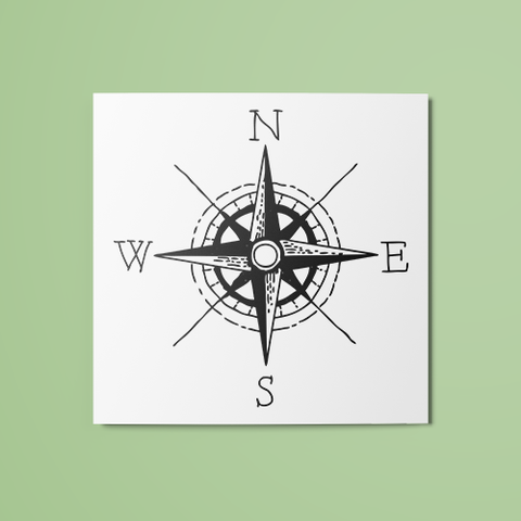 Compass Temporary Tattoo