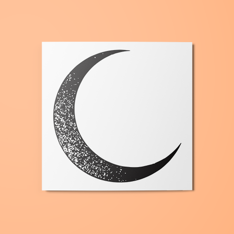 Cresent Moon Temporary Tattoo