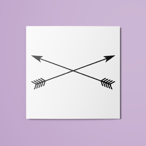 Cross Arrows Temporary Tattoo