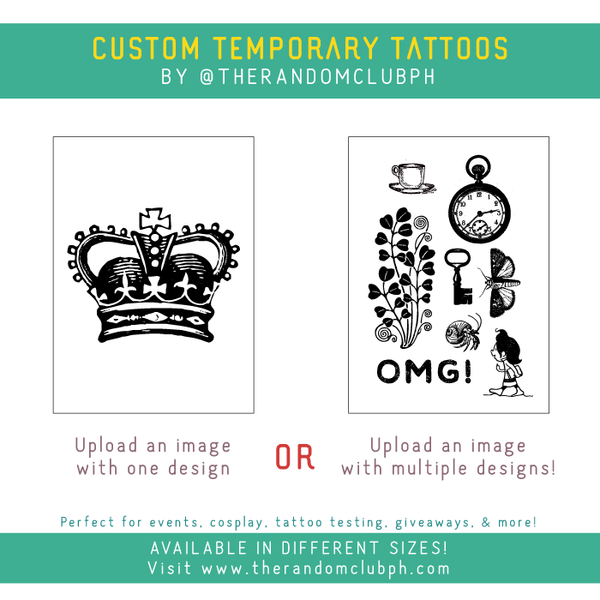 Custom Temporary Tattoo (Up to 9x12 cm)