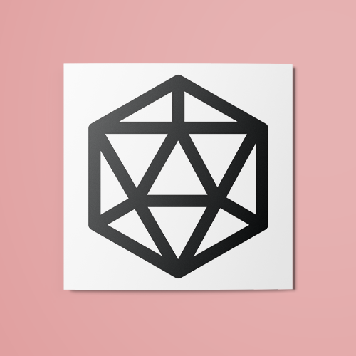 D20 Temporary Tattoo