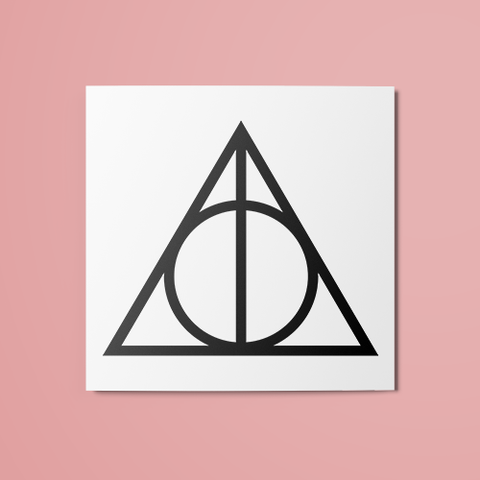 Harry Potter - Deathly Hallows Temporary Tattoo