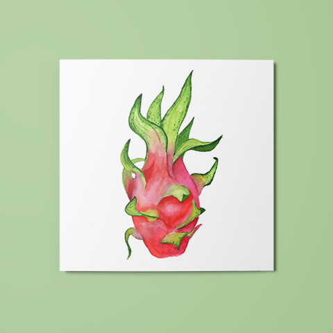 Dragon Fruit Temporary Tattoo