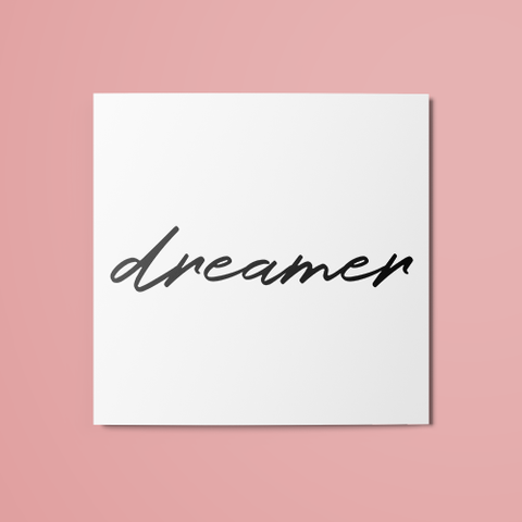 Dreamer Temporary Tattoo