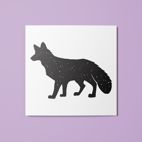 Fox Silhouette Temporary Tattoo