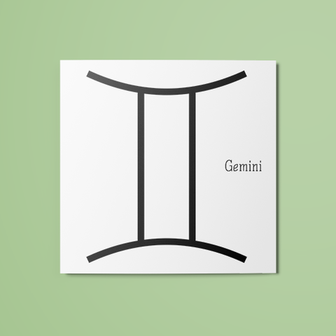 Gemini Symbol Temporary Tattoo