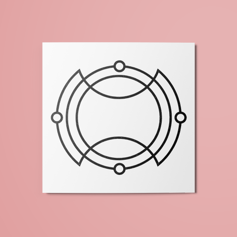 Geometric Circles Temporary Tattoo