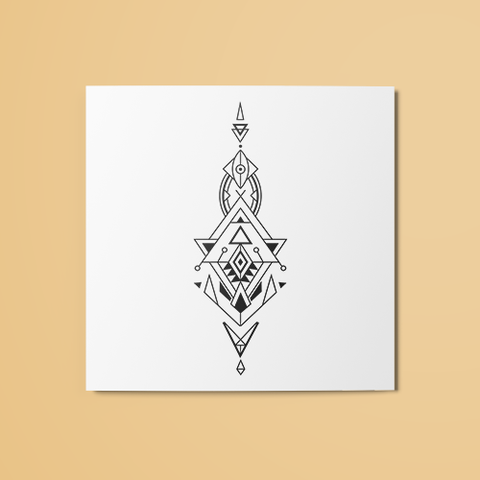 Geometric Tribal v2 Temporary Tattoo