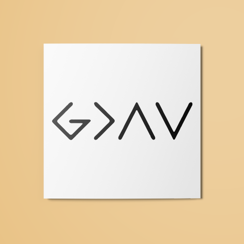 God is Greater than the Highs and Lows Temporary Tattoo