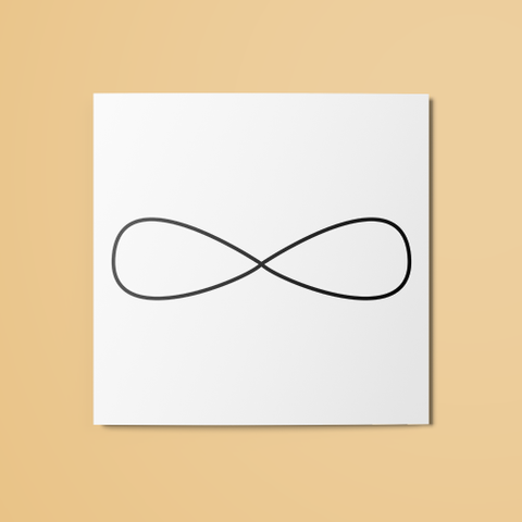 Infinity Temporary Tattoo