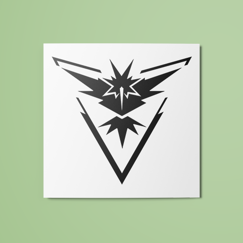 Pokemon - Team Instinct (B&W) Temporary Tattoo