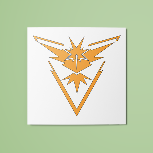 Pokemon - Team Instinct (Colored) Temporary Tattoo