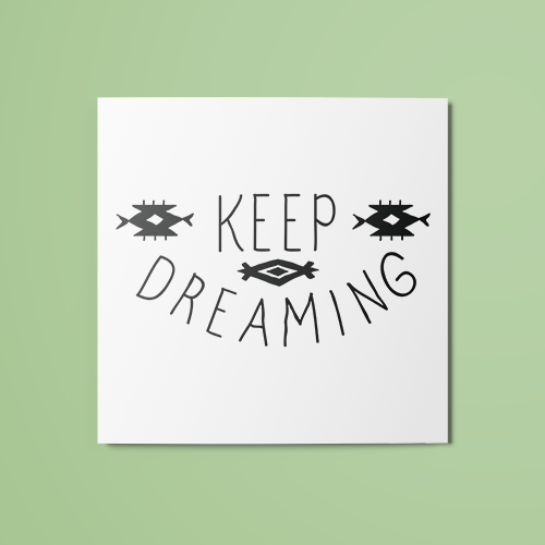 Keep Dreaming Temporary Tattoo