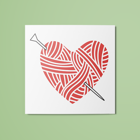 Knitting Love Temporary Tattoo
