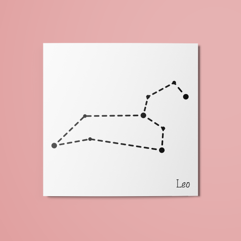 Leo Constellation Temporary Tattoo