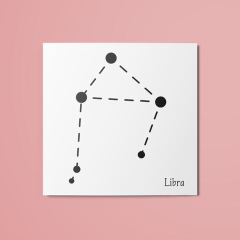 Libra Constellation Temporary Tattoo
