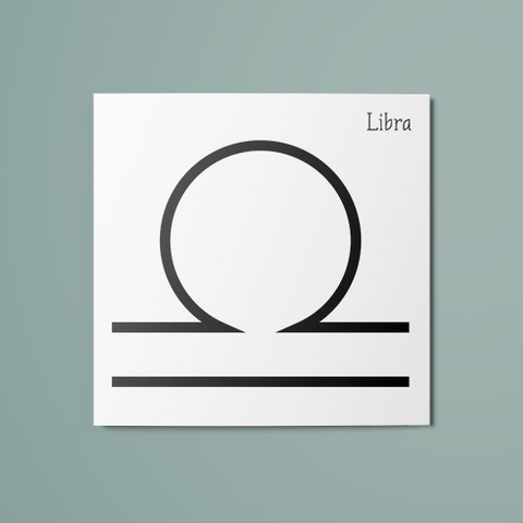 Libra Symbol Temporary Tattoo
