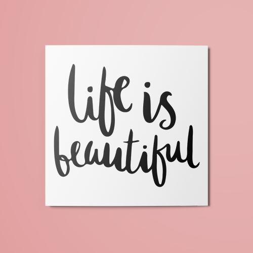 Life id Beautiful Temporary Tattoo