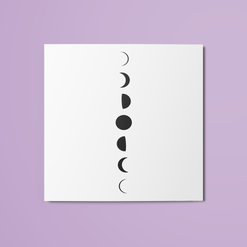 Moon Phases (Filled) Temporary Tattoo