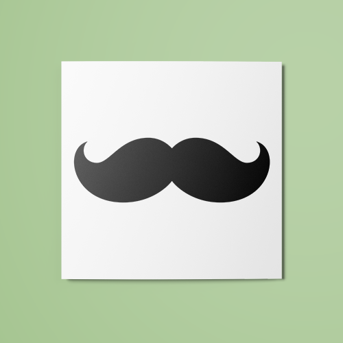 Moustache Temporary Tattoo