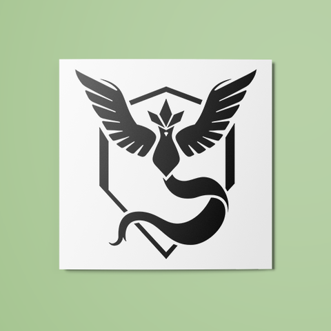 Pokemon - Team Mystic (B&W) Temporary Tattoo