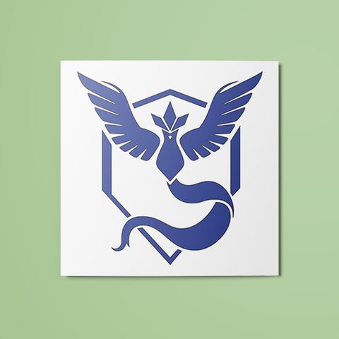 Pokemon - Team Mystic (Colored) Temporary Tattoo