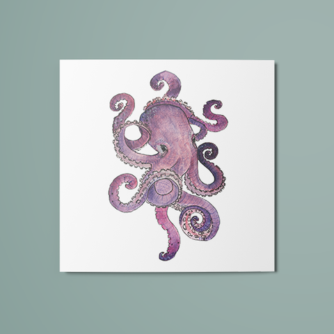 Octopus Temporary Tattoo