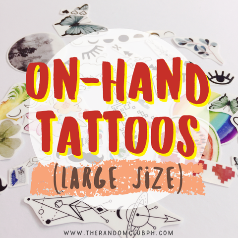 On-Hand Tattoos (Large Size)