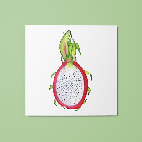 Open Dragon Fruit Temporary Tattoo