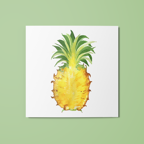 Open Pineapple Temporary Tattoo