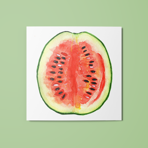 Open Watermelon Temporary Tattoo