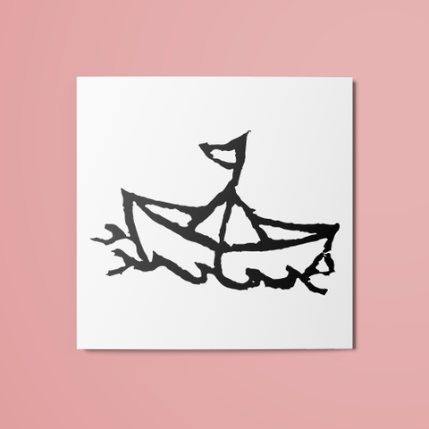 Paper Boat Temporary Tattoo