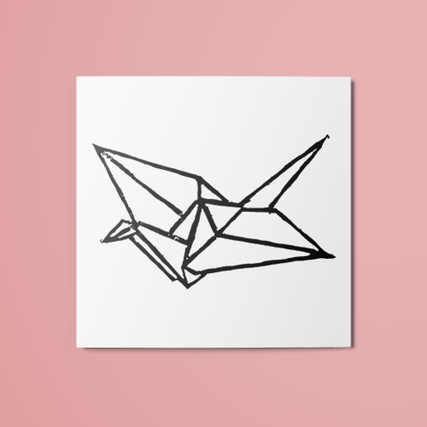 Paper Crane Temporary Tattoo