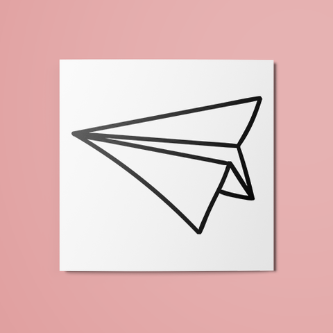 Paper Plane Temporary Tattoo