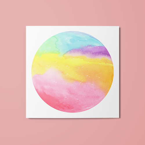 Pastel Orb Temporary Tattoo