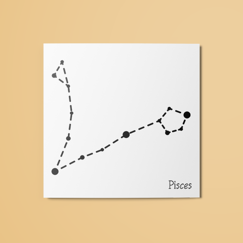 Pisces Constellation Temporary Tattoo