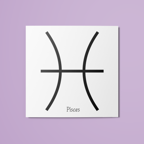 Pisces Symbol Temporary Tattoo